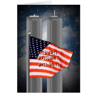 9-11 WORLD TRADE CENTER - NEVER FORGET CARD