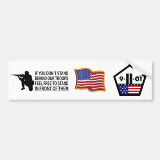 9/11 y apoya a nuestra pegatina para el parachoque etiqueta de parachoque