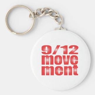 9/12 Movement Basic Round Button Keychain