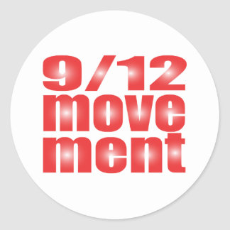 9/12 Movement Round Stickers