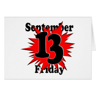 9-13 Friday the 13th Card
