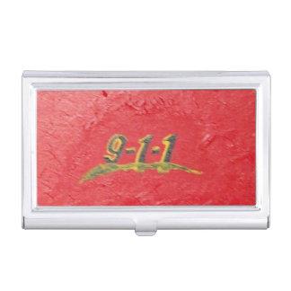 9-1-1 centro de atención telefónica caja de tarjetas de presentación