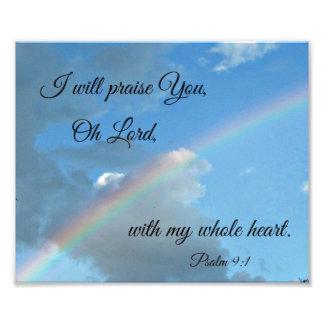 9:1 del salmo le elogiaré, oh señor, fotografia