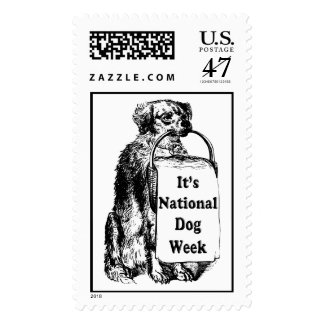 9/21-27 National Dog Week Stamp