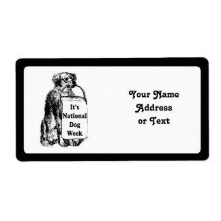 9/21-27 semana nacional del perro etiquetas de envío