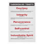 9-2 Generic Taekwon-Do Tenets Poster