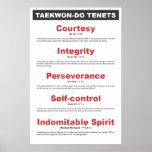 9-2 poster genérico de los principios del Taekwond