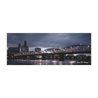 9.35 x 24.93 Hawthorne Bridge Portland, Oregon Canvas Prints