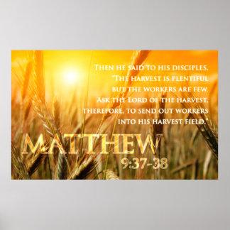 9:37 de Matthew - 38 Póster