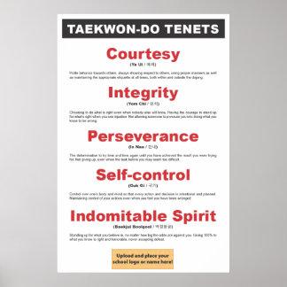 9-3 poster adaptable de los principios del Taekwon