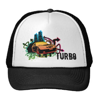 9-5-aero cutout grunge hat, turbo trucker hat