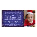9:6 de Isaías para a nosotros un niño nace Plantilla Para Tarjeta De Foto