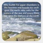 9:6 de los Amos Pegatina Cuadrada