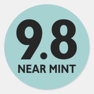 9.8 NEAR MINT CLASSIC ROUND STICKER