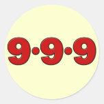 9-9-9: September 9th, 2009 Classic Round Sticker