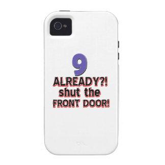 9 already? Shut the front door iPhone 4/4S Covers