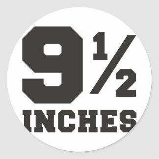 9 and a half inches 9 1/2 classic round sticker