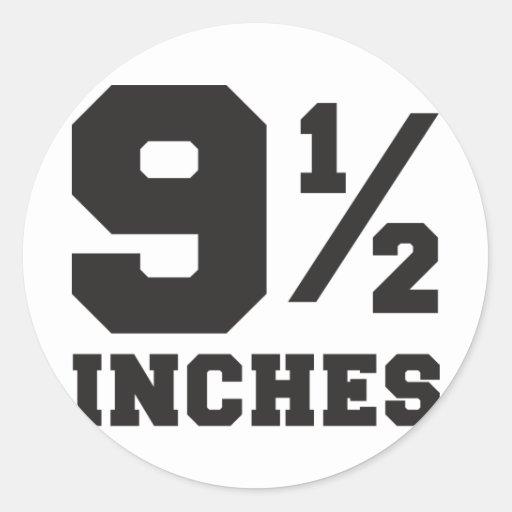 9 and a half inches 9 1/2 classic round sticker   Zazzle