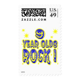 ¡9 años de la roca! (azul) sellos