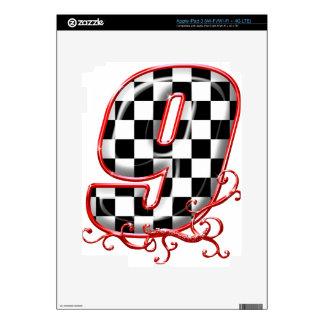 9 auto racing number iPad 3 skins