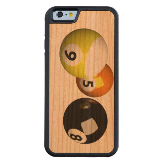9 Ball 3D Pool Balls Carved Cherry iPhone 6 Bumper Case