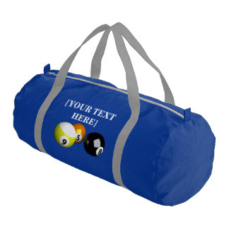 9 Ball 3D Pool Balls Green Gym Bag