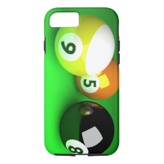 9 Ball 3D Pool Balls Green iPhone 7 Case