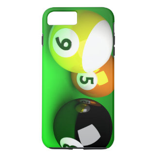 9 Ball 3D Pool Balls Green iPhone 7 Plus Case