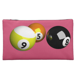 9 Ball 3D Pool Balls Makeup Bag