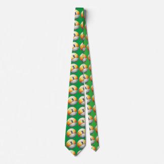 9 ball Art Pattern Green Tie
