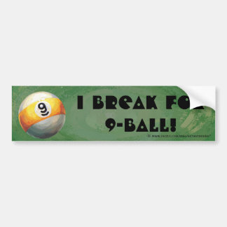9 ball bumper sticker