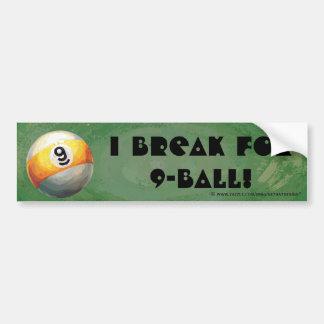 9 ball bumper sticker
