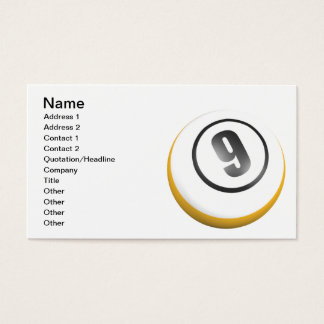 9 Ball Business Card
