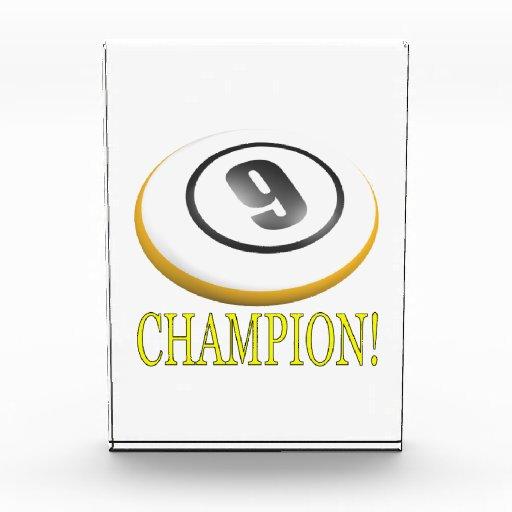 9 Ball Champion Acrylic Award