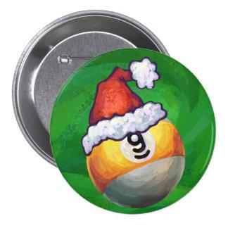 9 ball Christmas Green Hat Buttons
