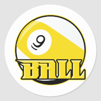 9 Ball Classic Round Sticker
