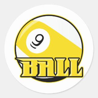 9 Ball Classic Round Sticker