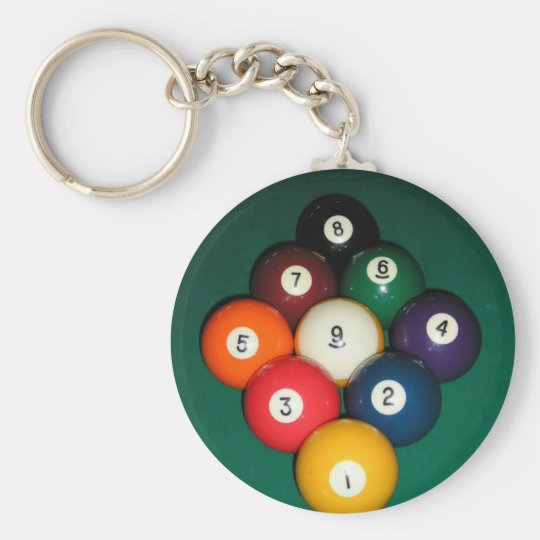 9 Ball Keychain