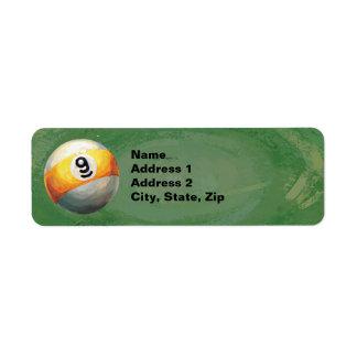 9 ball return address label