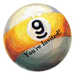 9 ball Party Invitation