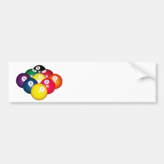 9 Ball Rack Bumper Sticker