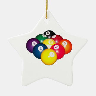 9 Ball Rack Ceramic Ornament
