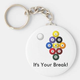 9-ball rack keychain