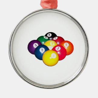 9 Ball Rack Metal Ornament