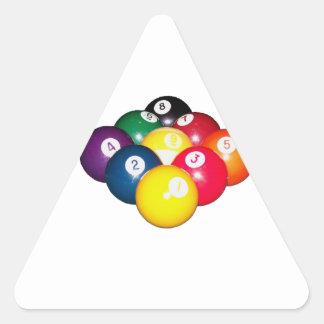 9 Ball Rack Triangle Sticker