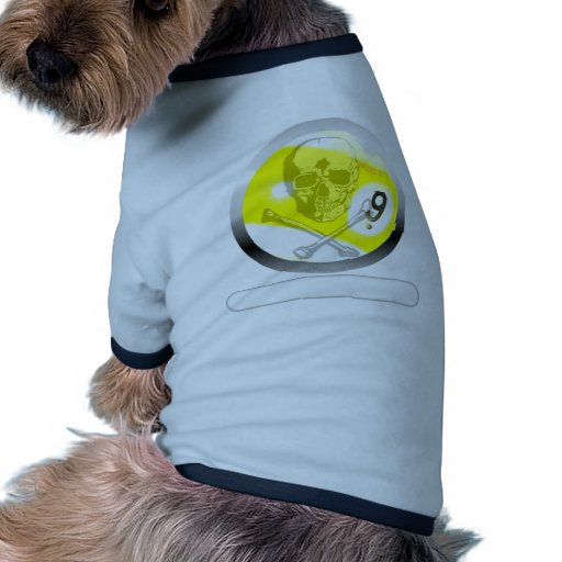 9 Ball Skull and Crossbones Dog Shirt
