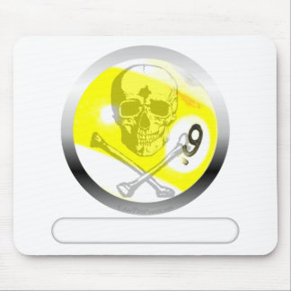 9 Ball Skull and Crossbones Mouse Pad