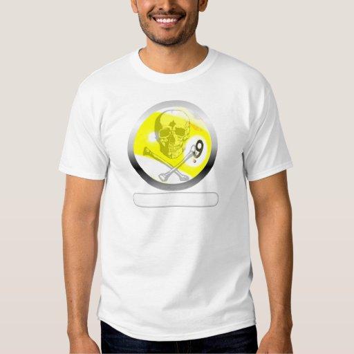 9 Ball Skull and Crossbones T-shirts