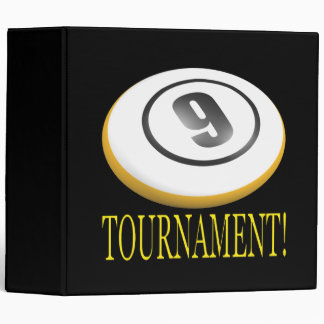 9 Ball Tournament 3 Ring Binder
