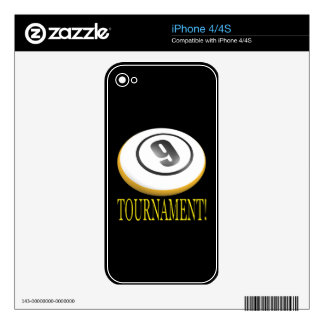9 Ball Tournament Decal For iPhone 4S